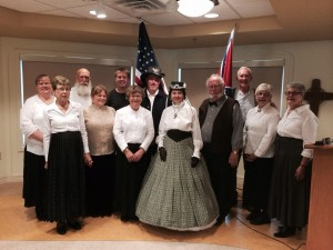 "The FHS renowned ""Civil War in Song"" program was performed at the Cedar Ridge Apartments in West Bend"